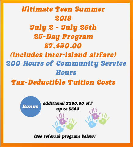 Teen Summer Camp Program in Hawaii