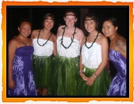 Teen Summer Camp Hawaii Volunteers in Hula Skirts